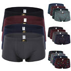 Soft 4× Mens Boxer Cotton Shorts Seamless Trunks Briefs Adults Underwear S M XL