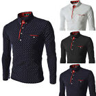 Fashion Mens Luxury Long Sleeve Shirt Casual Slim Fit Stylish Dress Shirts Top /
