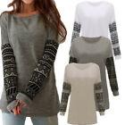 Fashion Womens Long Sleeve Tee Shirt Casual Loose Blouse Cotton Tops T-shirt New