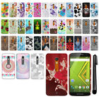 For Motorola Droid MAXX 2 XT1565 Moto X Play HARD Back Case Phone Cover + Pen
