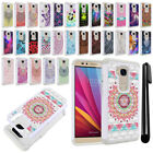 For Huawei Honor 5X Anti Shock Studded Bling HYBRID Case Phone Cover + Pen