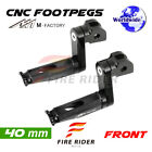 For Honda CBR1000RR 2004-2007 04 05 06 07 40mm Riser CNC Billet Front Footpegs