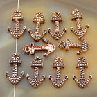 Solid Metal Dumbbell,Crown,Anchor,Fox,Owl Bracelet Connector Spacer Charm Beads
