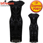 K339 1920s Flapper Dress Great Gatsby Charleston 20s Abbey Sequins Fancy Costume