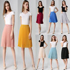 Women Girl Vintage Retro Chiffon Pleated Elastic High Waist Skirt Shorts Dress