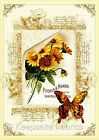 Seneca Ponds Daisies Butterfly Quilt Block Multi Sz FrEE ShiPPinG WoRld WiDE (S6