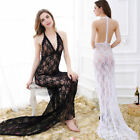 Dress Hollow Women's Dresses Ladies Nightwear Long Skirts Sexy Lace Backless AB