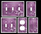 Contemporary light switch plates - PURPLE HEART AND LEAVES CONTEMPORARY DECOR  LIGHT SWITCH COVER PLATE