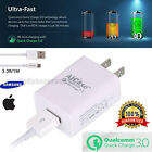 Communal Certified Quick USB Wall Adapter Charger 3.0 High Rapid 18W +Cable