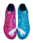 Puma EvoPower 3 Tricks FG Boys Football Boots / Cleats - Blue and Purple - 3001