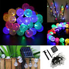 20ft 30 LED String Fairy Light Solar Powered Xmas Party Wedding Garden Outdoor
