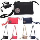 Womens Handbags Casual Nylon Wristlet Crossbody Bag Zipper Purse Clutch