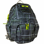 Oakley Bugeye Backpack Daypack School backpack Black Check Pattern NEW