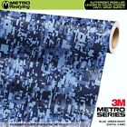 DIGITAL BLUE URBAN NIGHT Camouflage Vinyl Car Wrap Camo Film Sheet Roll Adhesive
