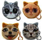 Kids Cat Dog Face Zipper Case Coin Girls Purse Wallet Makeup Bag Pouch 8cm Mini
