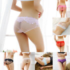 Women See Through Panties Lace Briefs Bikini Knickers Lingerie Underwear New AS
