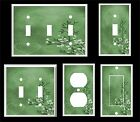 GREEN HEART AND LEAVES CONTEMPORARY DECOR  LIGHT SWITCH COVER PLATE