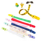 Cute Nipple Chain Leash Strap Clip Holder Baby Boys Girls Dummy Pacifier Soother