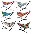 Double Hammock With Space Saving Steel Stand Includes Portable Carrying Case 6