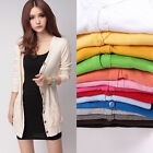Women Casual Loose Long Sleeve Knitted Sweater Tops Cardigan.Outwear Coat Jacket