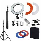 """Dimmable Diva Video LED Ring Light 14"""" 18"""" 40W 55W Mirror & Stand Make Up Studio"""