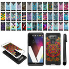 For LG V20 VS995 H990 LS997 US996 Shockproof Brushed Hybrid Cover Case + Pen