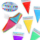 Flags Bunting Party Banner Garlands Decoration Fete Pennant Coloured 10M Rainbow
