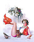 Pin Up Cowgirl Cotton Quilt Block Multi Sizes FrEE ShiPPinG WoRld WiDE (C2