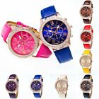 Fashion Pop Watches Leather Stainless  Men Women Steel Analog Quartz Wrist Watch