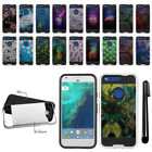 "For Google Pixel XL 5.5"" HTC Shockproof Brushed Hybrid Phone Cover Case + Pen"