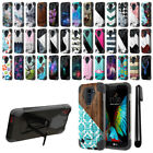 For LG K10 Premier LTE L62VL K430 K420N Hybrid Dual Layer Stand Case Cover + Pen