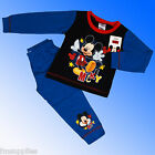 Boys Disney Mickey Mouse Pyjamas Age 18 Months 1 2 3 4 Years