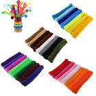 Lots 100pcs Chenille Stems Pipe Cleaners Kids Craft Educational Toys Twist Rods