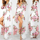 Summer Women Beach Dresses Long Boho Maxi Bodycon Evening Party Patchwork Dress