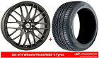 Alloy Wheels & Tyres 17'' Calibre Motion For Lancia Lybra 99-02