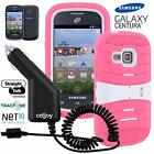 For Samsung Galaxy Centura Discover Extreme Kickstand Hybrid Case + Car Charger