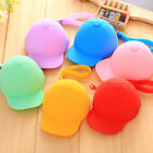Creative Silicone Candy Color Wallet Coin Purse Hat Pattern Key Holder Pouch Bag