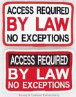 ACCESS REQUIRED BY LAW NO EXCEPTIONS SERVICE DOG PATCH Danny & LuAnns Embroidery