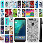 "For Google Pixel XL 5.5"" HTC TPU SILICONE Soft Protective Case Cover + Pen"