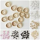 Mixed Wooden Handmade Buttons Assorted Colours Designs Sewing Scrapbooking Craft