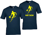 Basketball children's T Shirt with personalisation b ball hoops