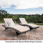 Lakeport Outdoor Wicker Lounge with Water Resistant Cushion (Set of 2)