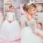 New Flower Girl Dress Princess Lace Party Pageant Wedding Bridesmaid Dresses