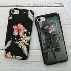 For Apple iPhone 6 7 8 Plus Flower Fashion Pattern Hard PC Matte Back Case Cover