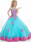 New Flower Girl Dress Princess Kids Pageant Party Dance Wedding Birthday Gown