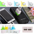 Dual Port Cable Wall Charger Square Charger Charging Head for Smart Phones New