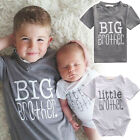 Cute Little Brother Baby Boy Romper Bodysuit Big Boy T-shirt Top Matching Outfit
