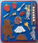 Little Mouse , BIG Hungry Bear & the Red Ripe Strawberry  Felt Board Set