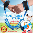 US Safety Harness Leash Anti Lost Wrist Link Traction Rope For Toddler Baby Kids