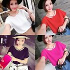 Summer Women's Casual Chiffon T-shirts Short Sleeve Blouse Tops Loose Tops E34